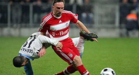 Ribéry blessé, le Bayern se cherche encore